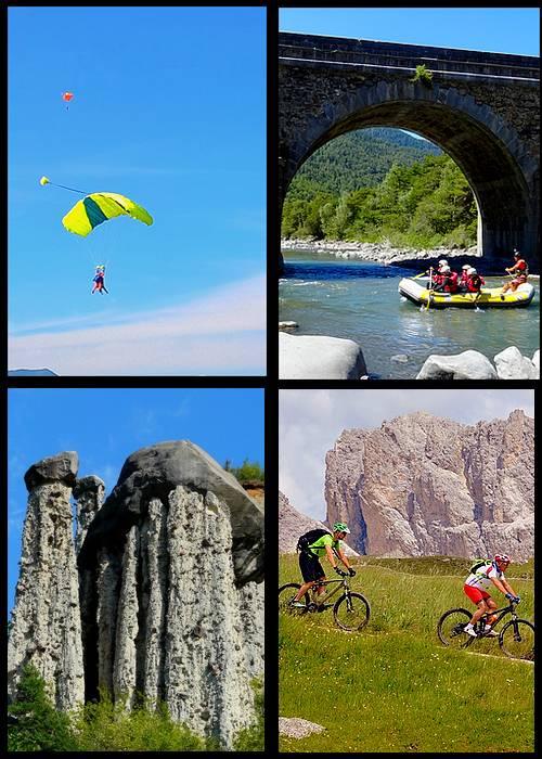 Activiteiten bij de camping met meren in Curbans