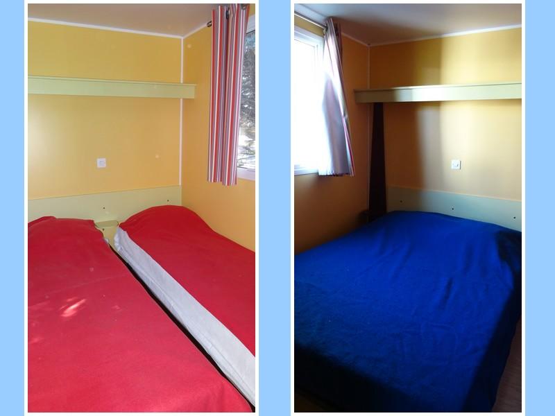 Location de Lodge Terrasse les chambres parent et enfants au camping du lac à Curbans