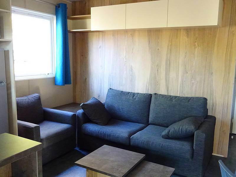 The lounge area of the very comfortable chalet