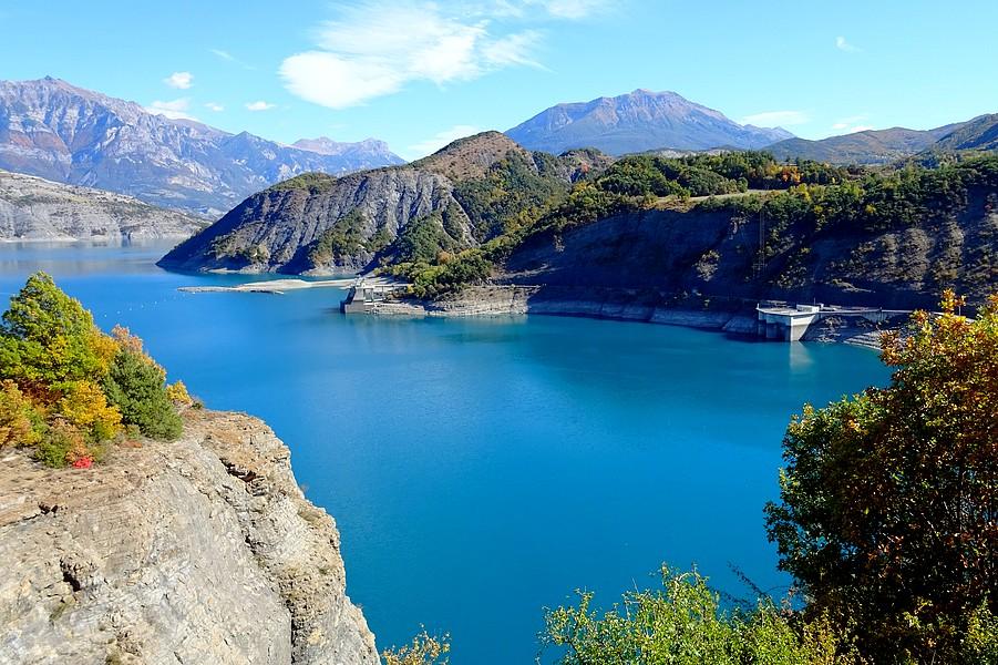 Le barrage du lac de Serre Ponçon