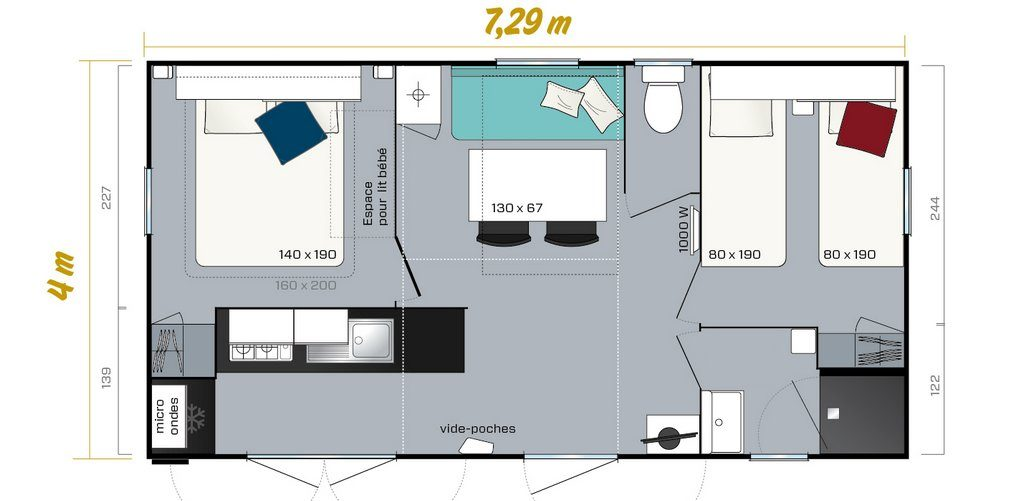 Mobil home Premium 2CH