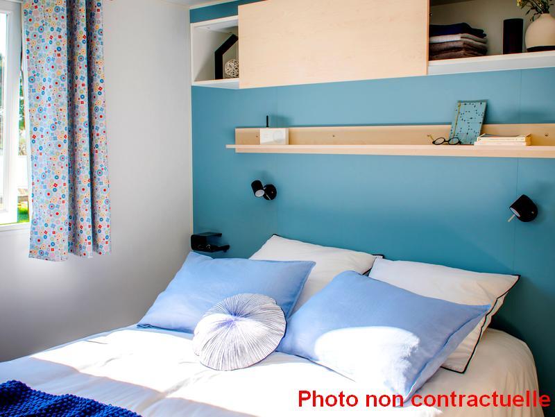 Chambres parent mobil home Premium 2 chambres au camping du Lac à Curbans