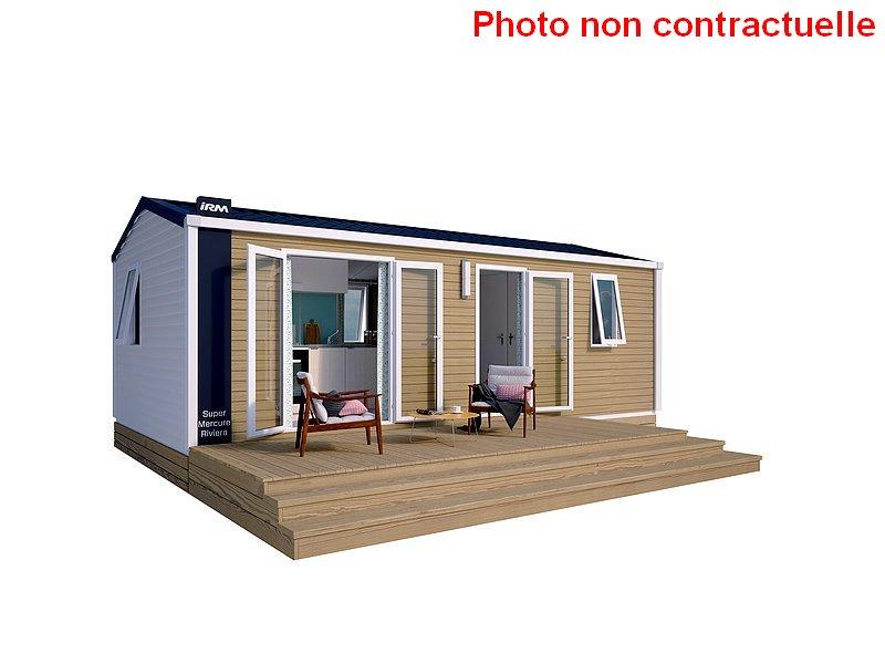 Mobil home Premium 2 chambres à louer au camping du Lac à Curbans