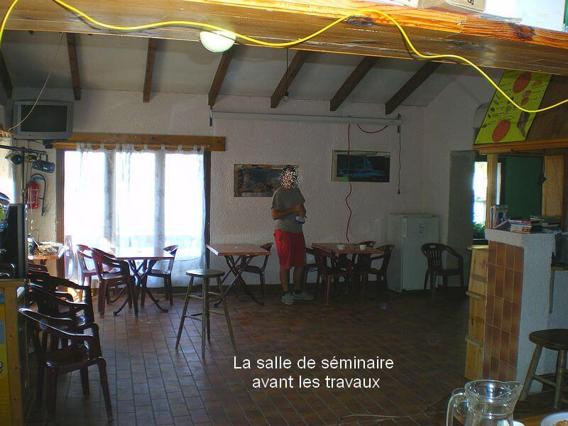 Rénovation de la salle de séminaire au camping du Lac à Curbans