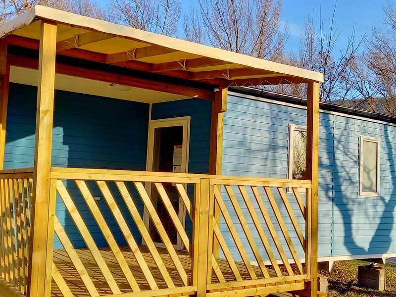 Location de mobil home Résidence Ecrins avec terrasse intégrée